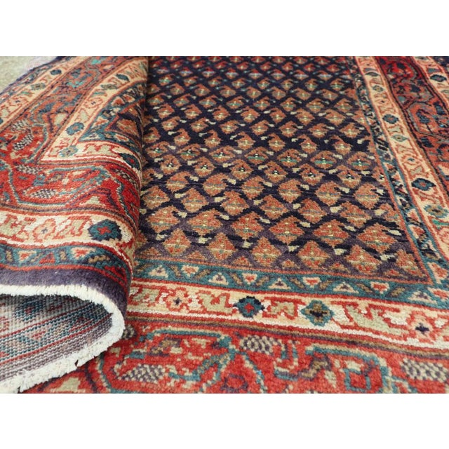 "Vintage Persian Malayer Rug – Size: 3'4"" X 5' 1"" For Sale - Image 9 of 10"