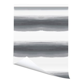 Victoria Larson Wave Grasscloth Wallpaper - Storm - 34×180ʺ For Sale