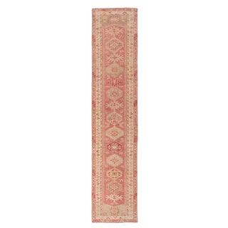 1960s Vintage Decorative Herki Runner Rug - 2′5″ × 11′5″ For Sale
