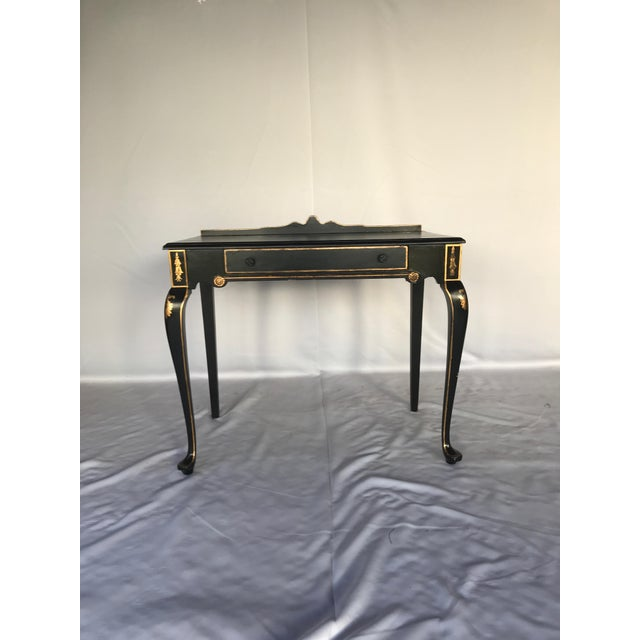 French Chinoiserie Style Writing Desk and Chair Set - Image 5 of 8