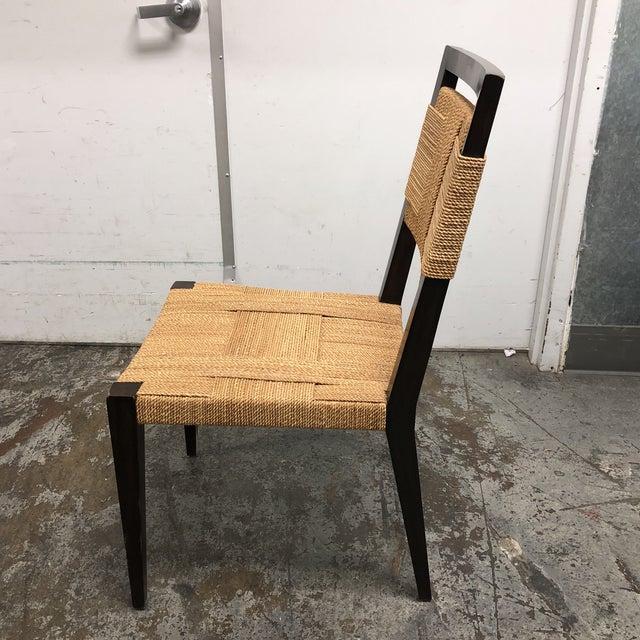 Palecek Raffia Rope & Wood Side Chair - Image 5 of 7