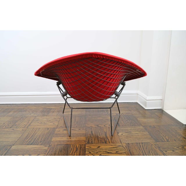 Metal Mid-Century Modern Harry Bertoia for Knoll Diamond Chair For Sale - Image 7 of 8