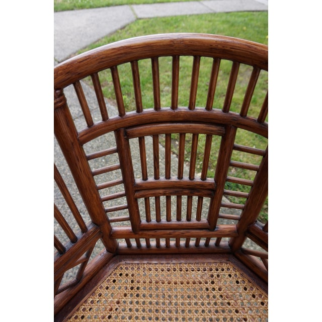 Bamboo Chinese Chippendale Bamboo Brighton Pavilion Chairs - a Pair For Sale - Image 7 of 13