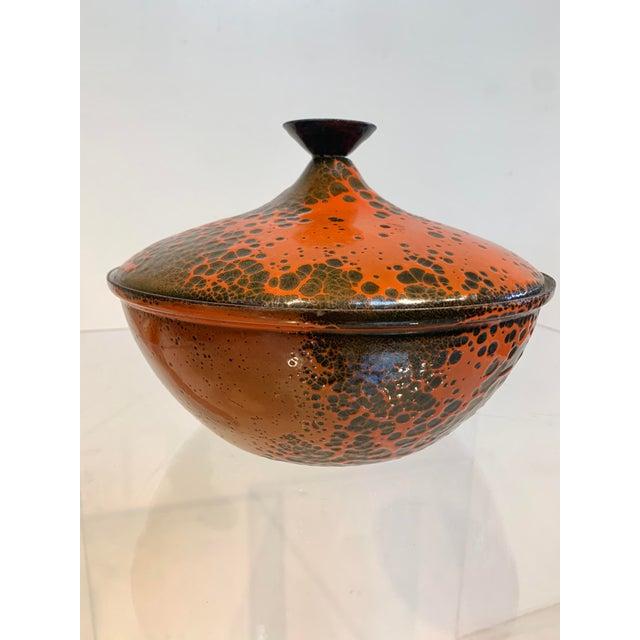 1960s Lidded Enamel Casserole Bowl For Sale In Los Angeles - Image 6 of 6