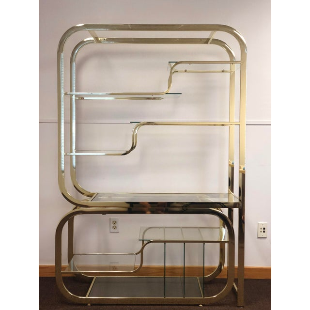 1970s Milo Baughman for Design Institute of America Brass Etagere For Sale - Image 9 of 9