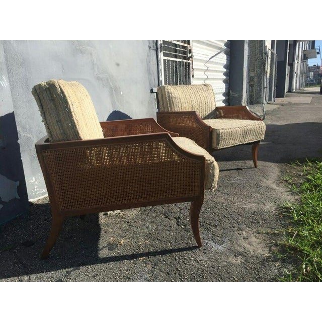 1950s 1950s Danish Modern Teak Saber Leg Low Slung Lounge Chairs - a Pair For Sale - Image 5 of 11