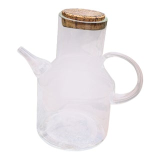Vintage Glass Decanter With Stamped Cork Lid