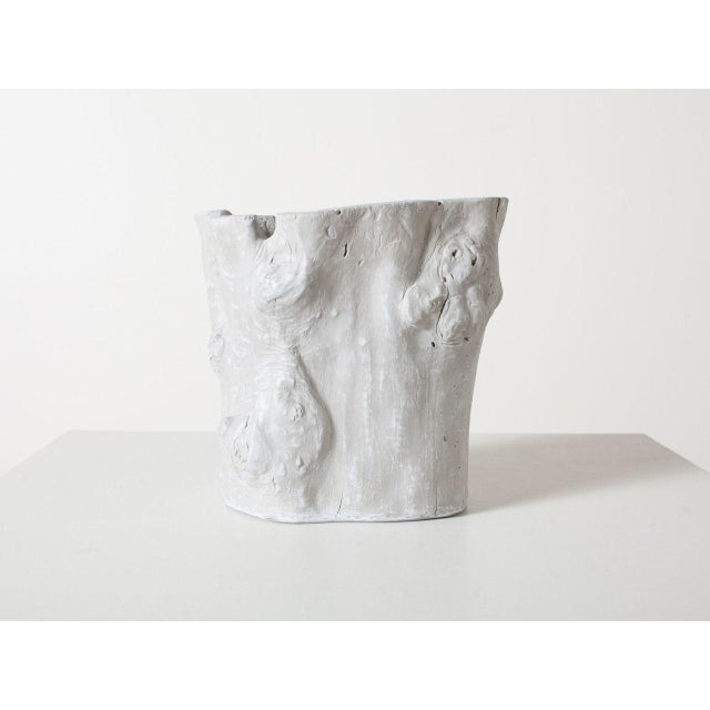 Tree hollow planter in matte grey finish. Made from cast resin for indoor our outdoor use. Made in the 2010s in the style...