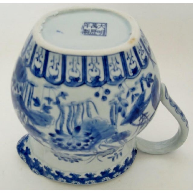 Blue Chinese Porcelain Pitcher For Sale - Image 8 of 8