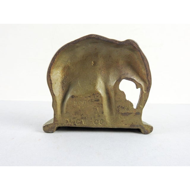 Cast Iron Vintage Elephant Bookend - Image 3 of 3