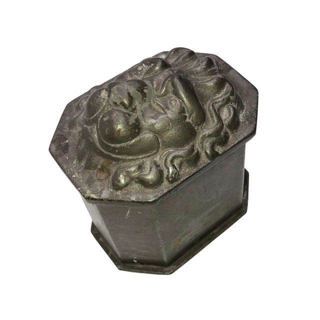 English Vintage Lion's Head Box For Sale - Image 3 of 7