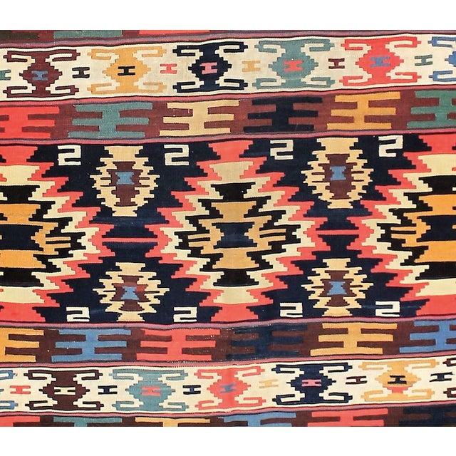 Circa 1910's Vintage Turkish Kilim Rug- 5′5″ × 8′ For Sale In Los Angeles - Image 6 of 6