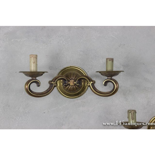 Pair of French Gilt Bronze Sconces - Image 6 of 11