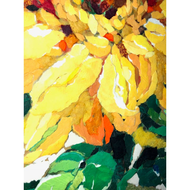 Sunflower II Contemporary Collage Painting For Sale In Atlanta - Image 6 of 7