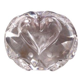 Vintage Signed Steuben Glass Love Object Aka Love Birds Paperweight 8397 For Sale