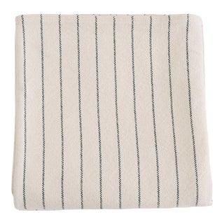 Pinstripe Blanket in Midnight Blue, Twin For Sale