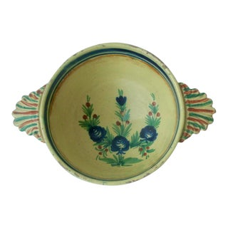Quimper French Faience Lugged Serving Bowl For Sale