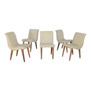 Dining Chairs Attributed to ModernMates by Leslie Diamond for Conant Ball, Set 5 For Sale