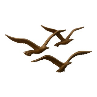 Vintage Homco Bird Faux Wood Wall Sculptures - Pair For Sale