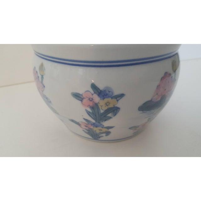 Vintage Blanc De Chine Asian Lotus Flower Cachepot - Image 5 of 8