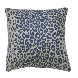 Iconic Leopard by Schumacher Linen & Navy Euro Pillow
