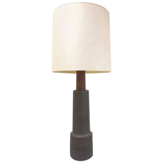 Tall Gordon Martz Ceramic Lamp For Sale