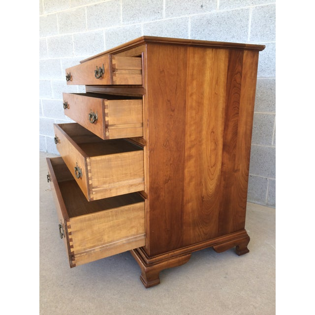 Mid-Century Modern Stickley Cherry Valley Chest of Drawers For Sale - Image 3 of 10