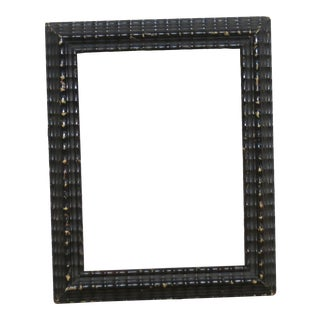 Mid 19th Century Antique Ebonized Ripple Picture Frame For Sale