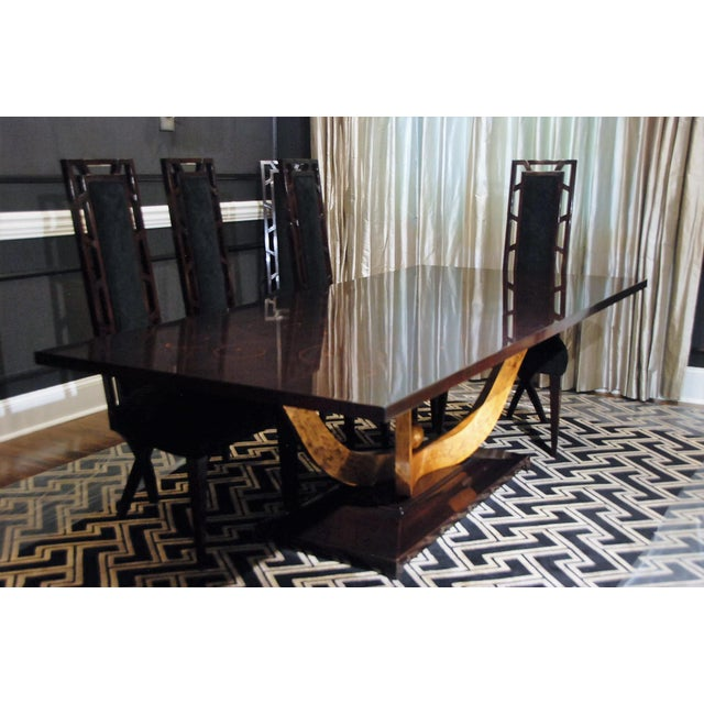 Christopher Guy Christopher Guy Dining Room Table & Chairs - Set of 9 For Sale - Image 4 of 10