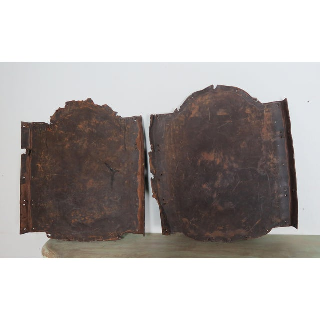 Pair of 19th C. Spanish Leather Panels For Sale - Image 9 of 10
