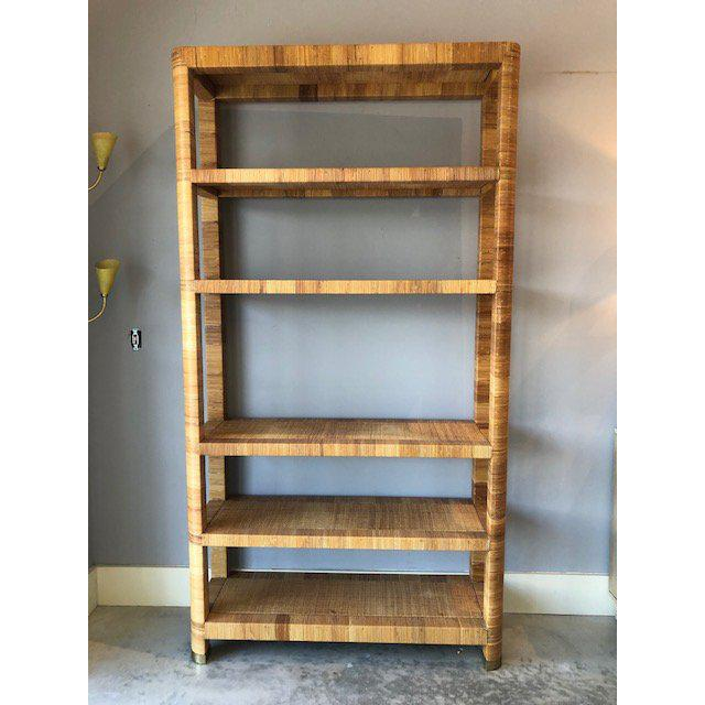 1980s Boho Chic Bielecky Brothers Woven Bookshelf For Sale - Image 10 of 11