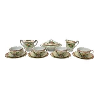 Porcelain Children's Tea Set - 16 Pieces For Sale