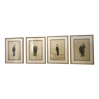 Political Caricatures by Sem/Georges Goursat - Set of 4 For Sale