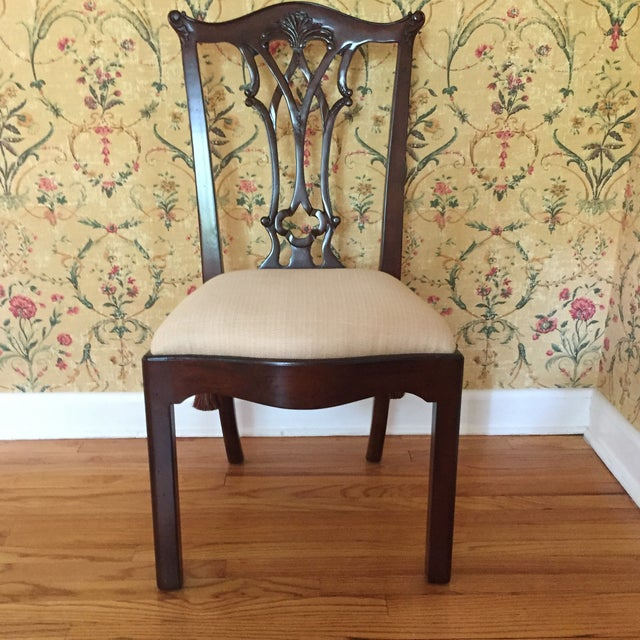 2010s Maitland Smith Regency Chippendale Carved Dining Set For Sale - Image 5 of 8