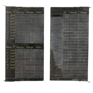 Early 20th Century Belgian Black Chalkboards-a Pair For Sale