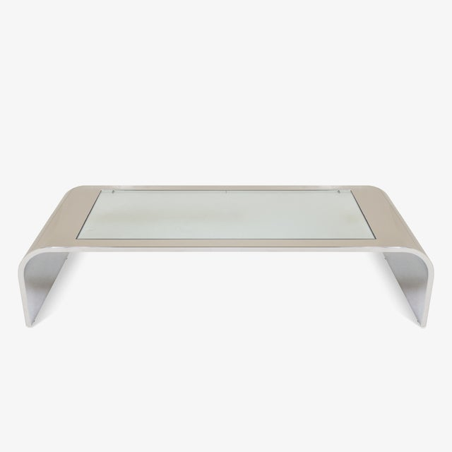 Stainless Steel Waterfall Cocktail Table by Brueton For Sale - Image 5 of 5
