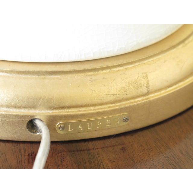Black Ralph Lauren Crackle Porcelain Modern Lamps- A Pair For Sale - Image 8 of 9