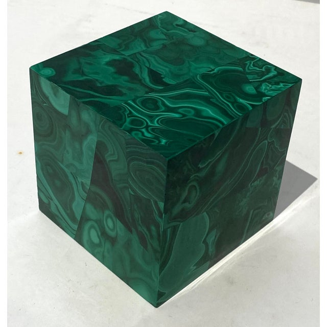 Vintage 4-Inch Malachite Cube For Sale - Image 9 of 10
