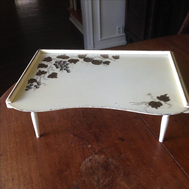 Mid-Century Modern Wood Lap Table - Image 4 of 11