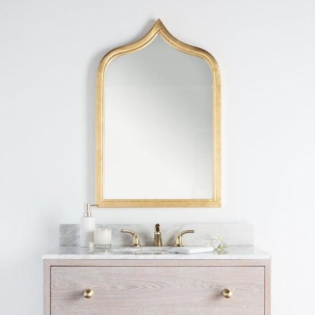 Worlds Away Worlds Away Zanzibar Gold Leafed Mirror For Sale - Image 4 of 5
