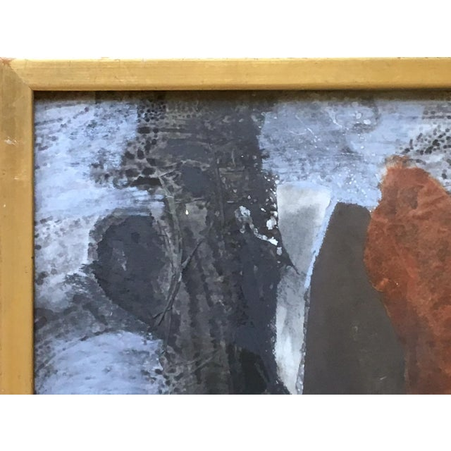 1960s 1962 Vintage Robert Kohls Abstract Pastel on Paper Collage For Sale - Image 5 of 7