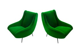 Image of Green Club Chairs