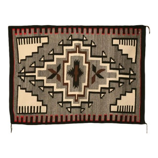American Navajo Indian Klagetoh Blanket or Rug - 3′8″ × 5′ For Sale