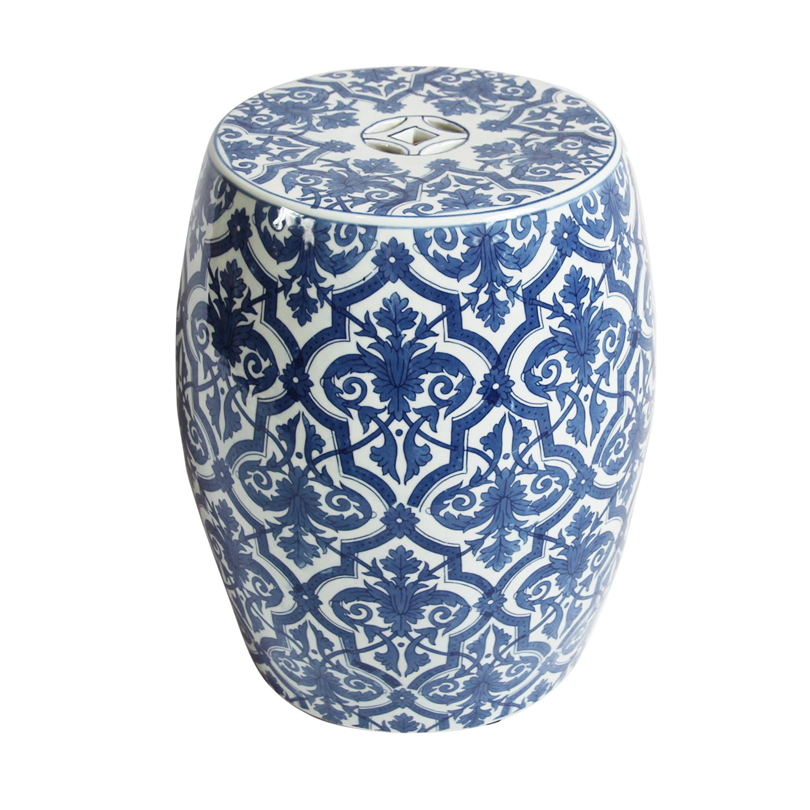 Blue Amp White Ceramic Garden Stool Chairish