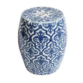 Image of White Ceramic Garden Stools