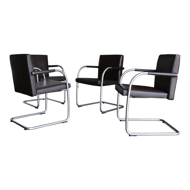Leather Armchairs by Antonio Citterio & Glen Oliver Low for Vitra - Set of 4 For Sale