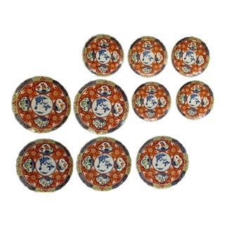 Vintage Imari Takahashi Dishes - Set of 10 For Sale