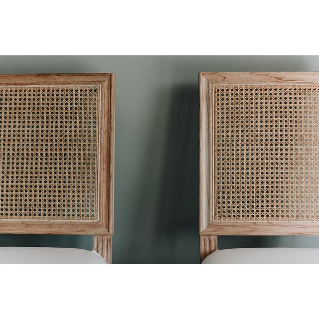 Brown Bienville Chair With Cane For Sale - Image 8 of 9