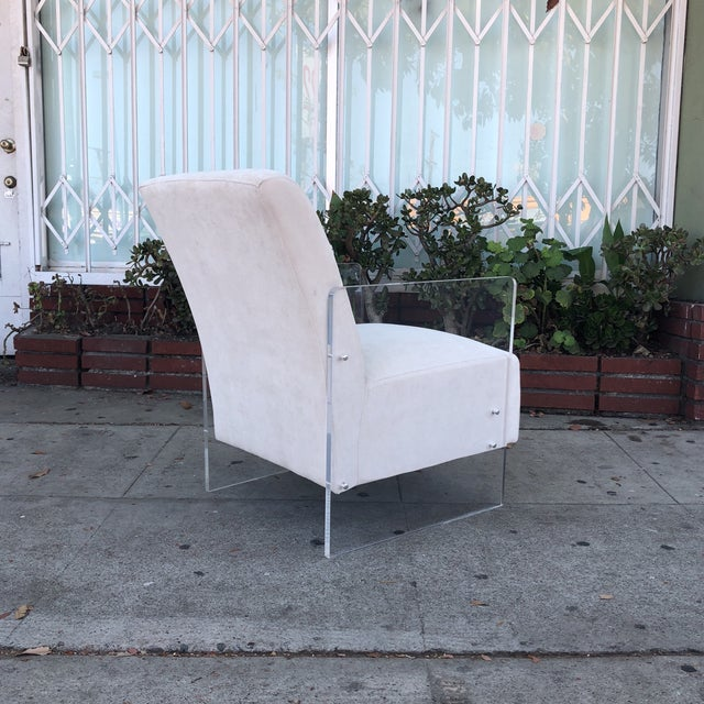 White Vintage Lucite Lounge Chairs - A Pair For Sale - Image 8 of 12