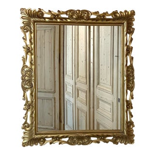Antique Mirror, Italian Giltwood in Rococo Style For Sale